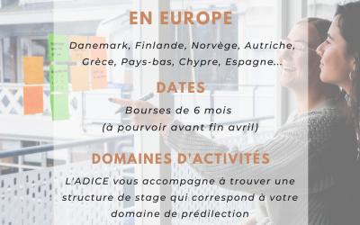 Le stage professionnel en Europe : une possibilité avec l'ADICE