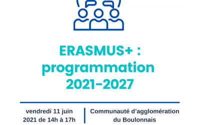 Présentation du nouveau programme Erasmus + 2021-2027 : Communauté d'agglomération du Boulonnais