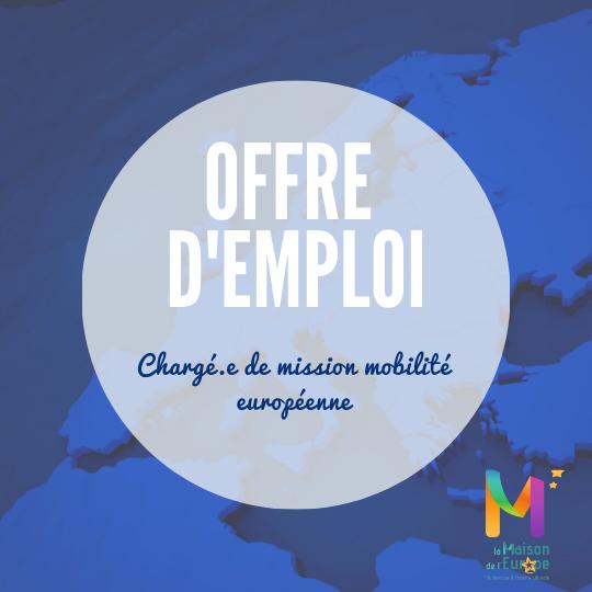 [Job] – Chargé·e de mission mobilité européenne – Maison de l'Europe de Dunkerque