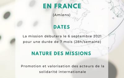 [Service Civique] – Promotion et valorisation des acteurs de la solidarité internationale à Amiens