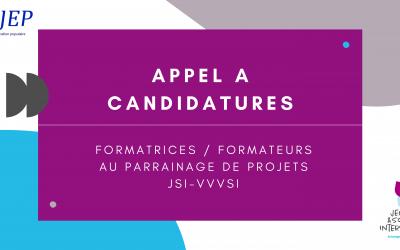 Appel à candidatures : formateurs/trices au parrainage de projets JSI-VVVSI